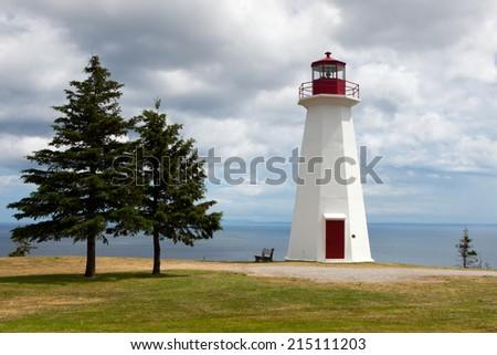 Atlantic Canada lighthouse. - stock photo