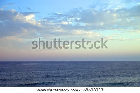 Atlantic ocean and blue sky / Atlantic Ocean - stock photo