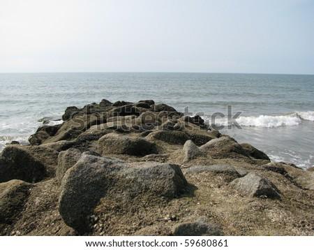 Atlantic Ocean at Edisto Beach in South Carolina - stock photo