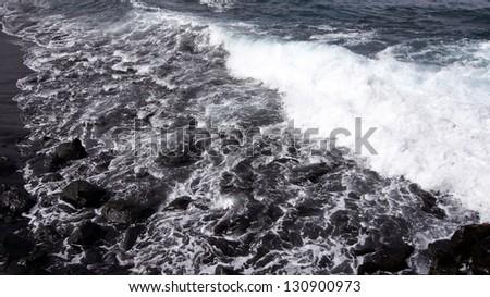 Atlantic Ocean in Tenerife, Spain - stock photo
