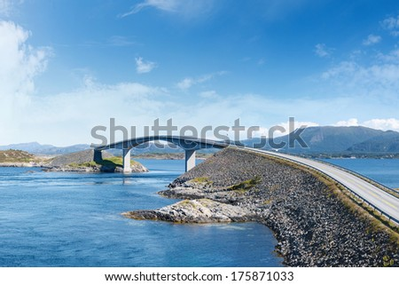 Atlantic Road in Norway - stock photo