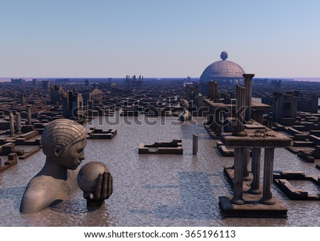 Atlantis - stock photo