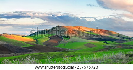 Atlas mountains, province of Meknes-Tafilalet, Morocco - stock photo