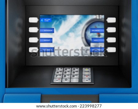 ATM Automated Teller Machine detail. - stock photo