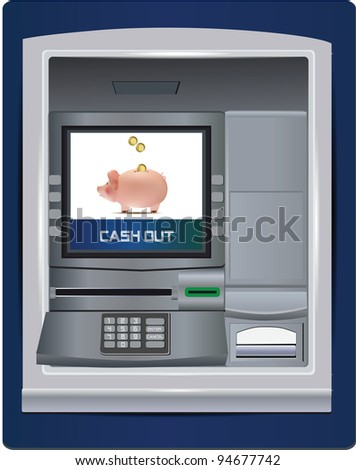 ATM Bank - stock photo
