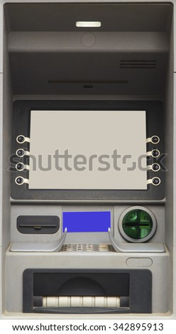ATM Bank Cash Machine closeup - stock photo
