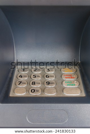 ATM close-up - stock photo