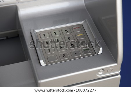 atm numbers - stock photo