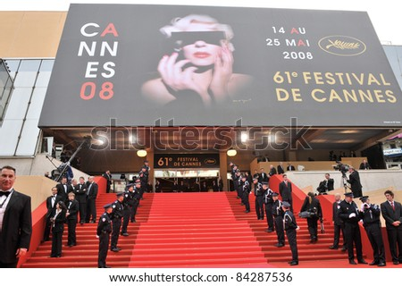 Atmosphere at the Palais des Festivals at the 61st Annual International Film Festival de Cannes. May 14, 2008  Cannes, France. Picture: Paul Smith / Featureflash - stock photo