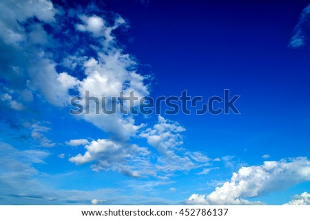 Atmosphere climate blue sky  - stock photo
