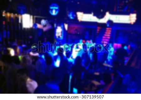 Atmosphere night club (blurred background) - stock photo