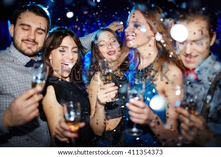 Atmosphere of party - stock photo