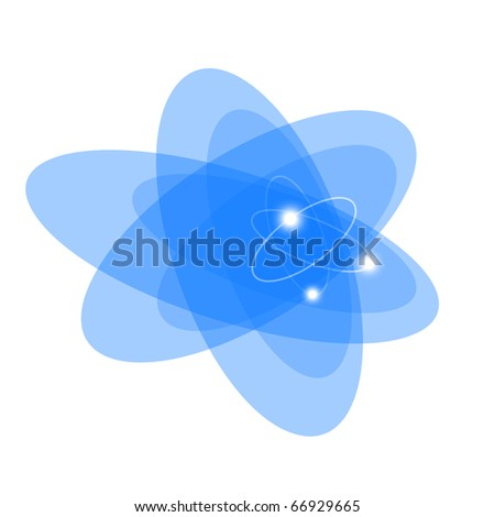 Atom. Abstract background for technology, business, computer or electronics products. Isolated over white background. - stock photo