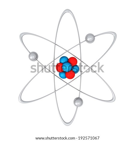 Atom, 3d - stock photo