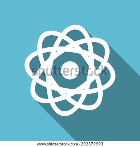 atom flat icon  original modern design flat icon for web and mobile app with long shadow  - stock photo