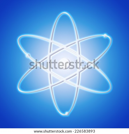 Atom icon - the symbol of science - stock photo