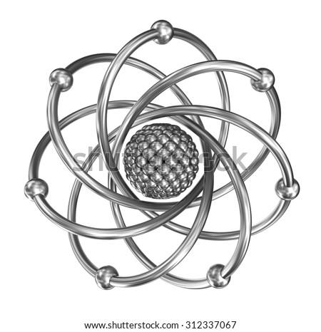 Model of Nitrogen Atom Atom Realistic Model From