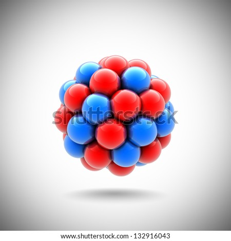 atomic nucleus - stock photo