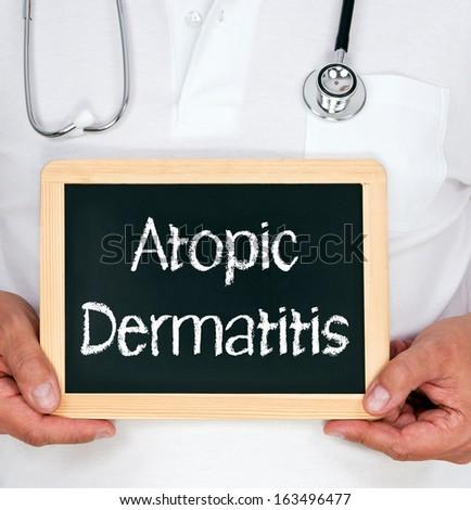 Atopic Dermatitis - stock photo