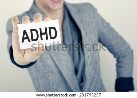 Attention deficit hyperactivity disorder - stock photo