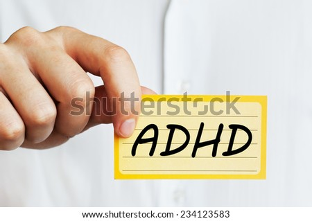 Attention Deficit Hyperactivity Disorder Concept - stock photo