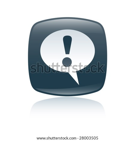 attention icon - stock photo