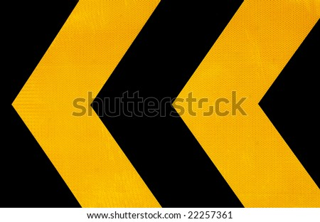 Attention road sign - stock photo
