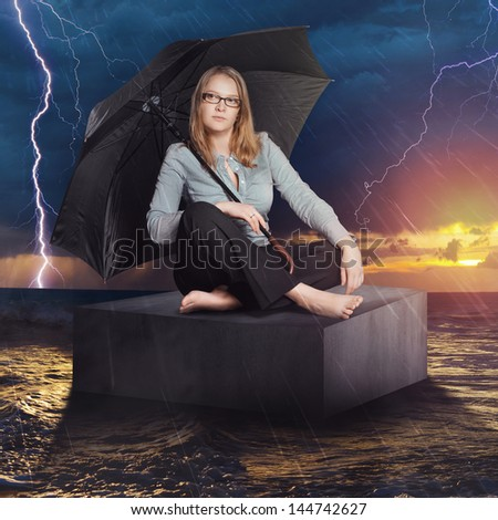 Attention, storm! - stock photo