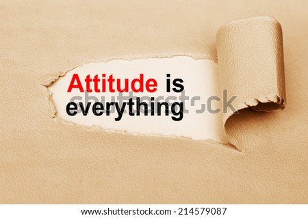 Attitude Is Everything message - stock photo