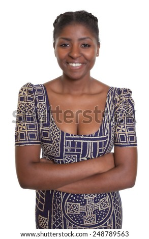 Attractive african woman with traditional clothes  - stock photo