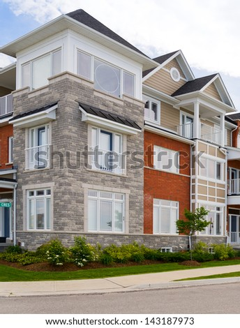 Attractive apartment building - stock photo
