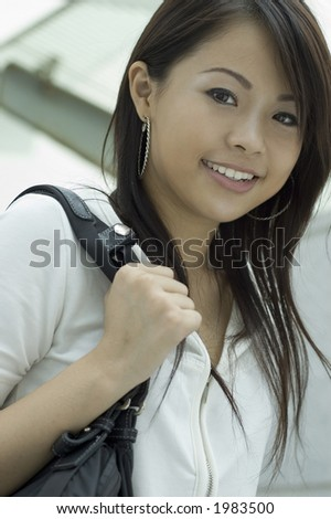 Attractive Asian Girl - stock photo