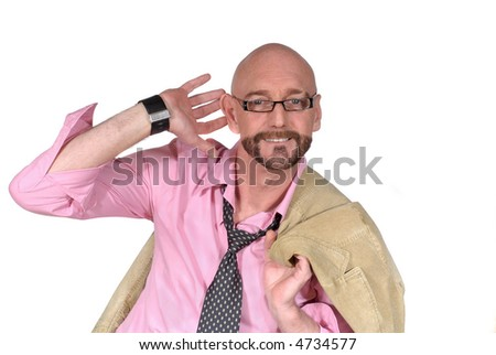 Attractive attentive successful  bearded  middle aged businessman, Business, corporate, concept. - stock photo