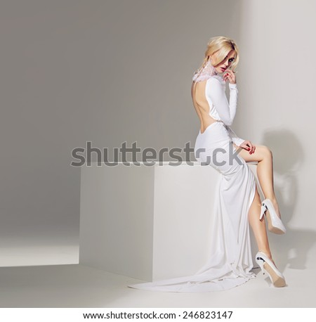 Attractive blonde beauty - stock photo
