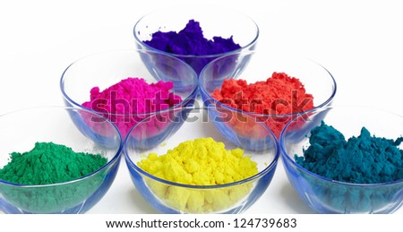Attractive colors of gulal - stock photo