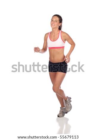 Attractive female jogger - stock photo