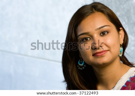 Attractive indian lady in traditional costume saree celebrating deewali religious festival of india - stock photo