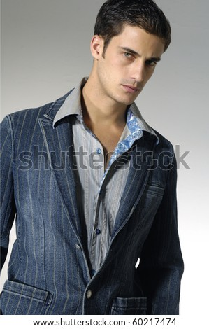 Attractive Male Model - stock photo