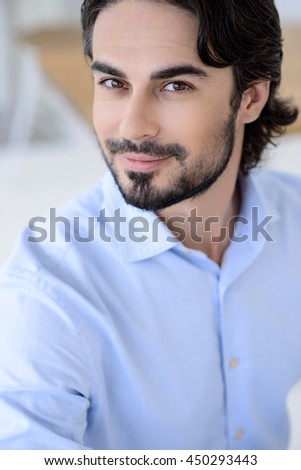 Attractive man has success in business - stock photo