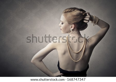 Attractive Pearls - stock photo