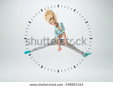 Attractive sporty lady - stock photo