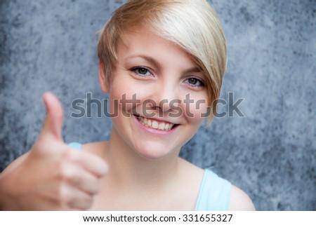 Attractive teenage girl - stock photo