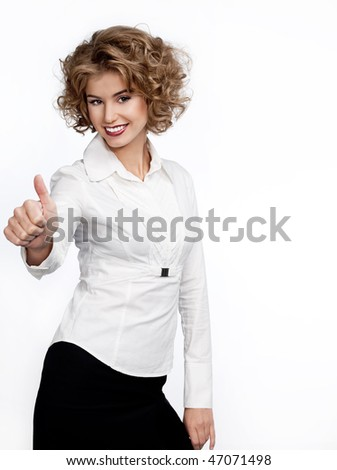 attractive woman in suit - stock photo