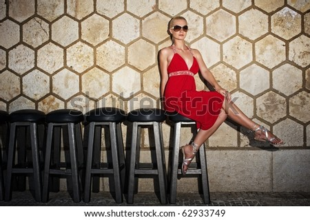 Attractive woman outdoors - stock photo