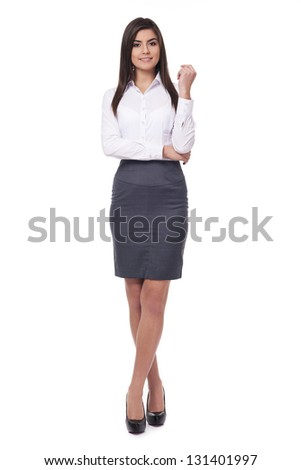Attractive young businesswoman - stock photo