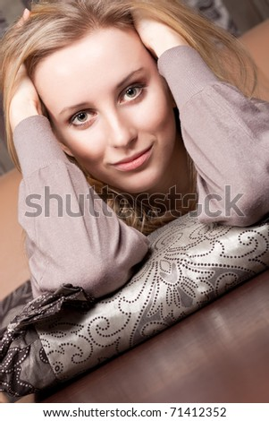 Attractive young girl - stock photo