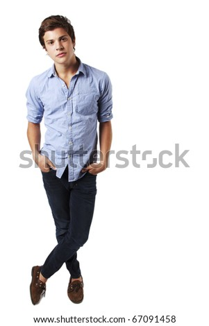 Attractive Young Male Model - stock photo