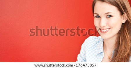 Attractive young woman. - stock photo