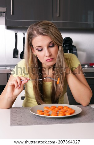Attractive young woman thinking about her lifestyle  - stock photo