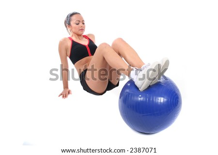 Attractive Young Working Out and Staying Fit and Healthy - stock photo